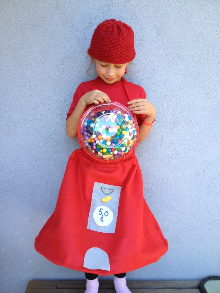 Gum Ball Girl... Would be cute idea for a pregnant Halloween costume