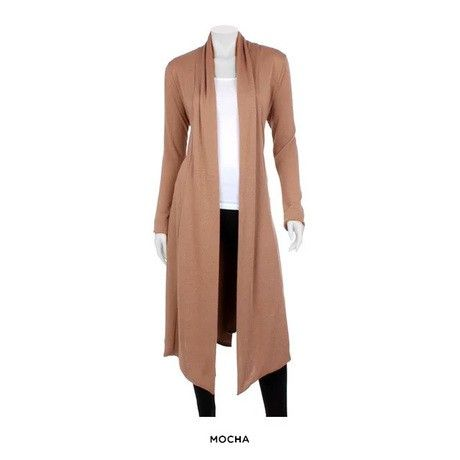 Long Open-Front Layering Cardigan - Assorted Colors at 82% Savings off Retail!