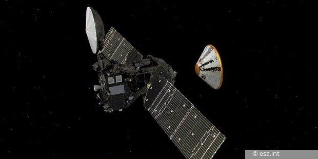 Die ESA-Marssonde Schiaparelli hat seit ihrem Eintritt in den Orbit noch kein Signal zur Erde gesendet.