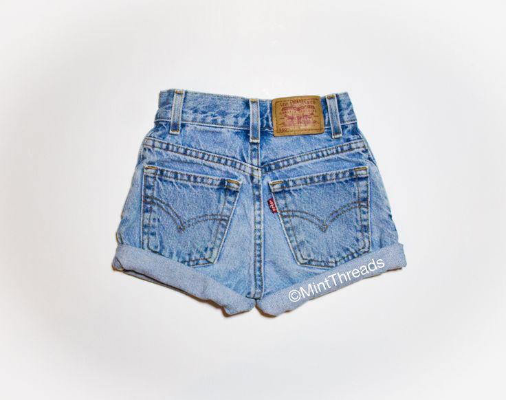 "ALL SIZES Vintage ""HERCULES"" High Waisted LEVI Denim Shorts"