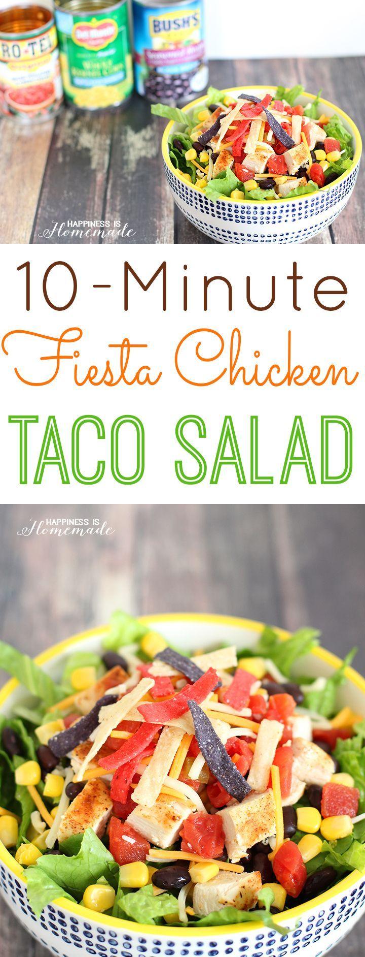 10-Minute Fiesta Chicken Taco Salad