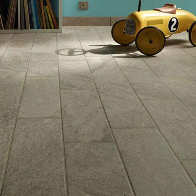 Carrelage sol et mur gris 17,5 x 50 cm Frejus - CASTORAMA