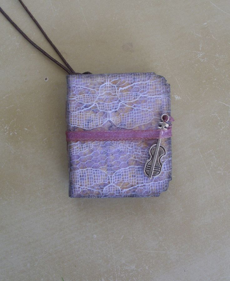Romantic Music Mini Junk Journal Pendant
