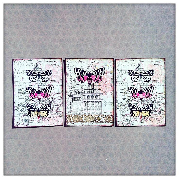 Embellissements scrapbooking papillons vintage faits main, décoration scrapbooking, loisirs créatifs, project life : Embellissements par scrap-passion74