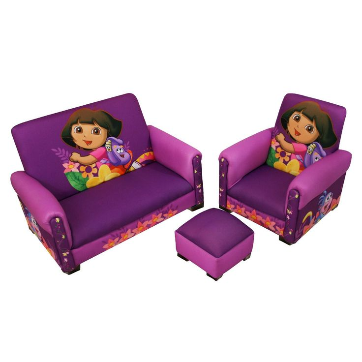 Nickelodeon Nickelodeon Dora Hiking Deluxe Toddler Sofa, Chair and Otto - Baby - Toddler Furniture - All Toddler Furniture
