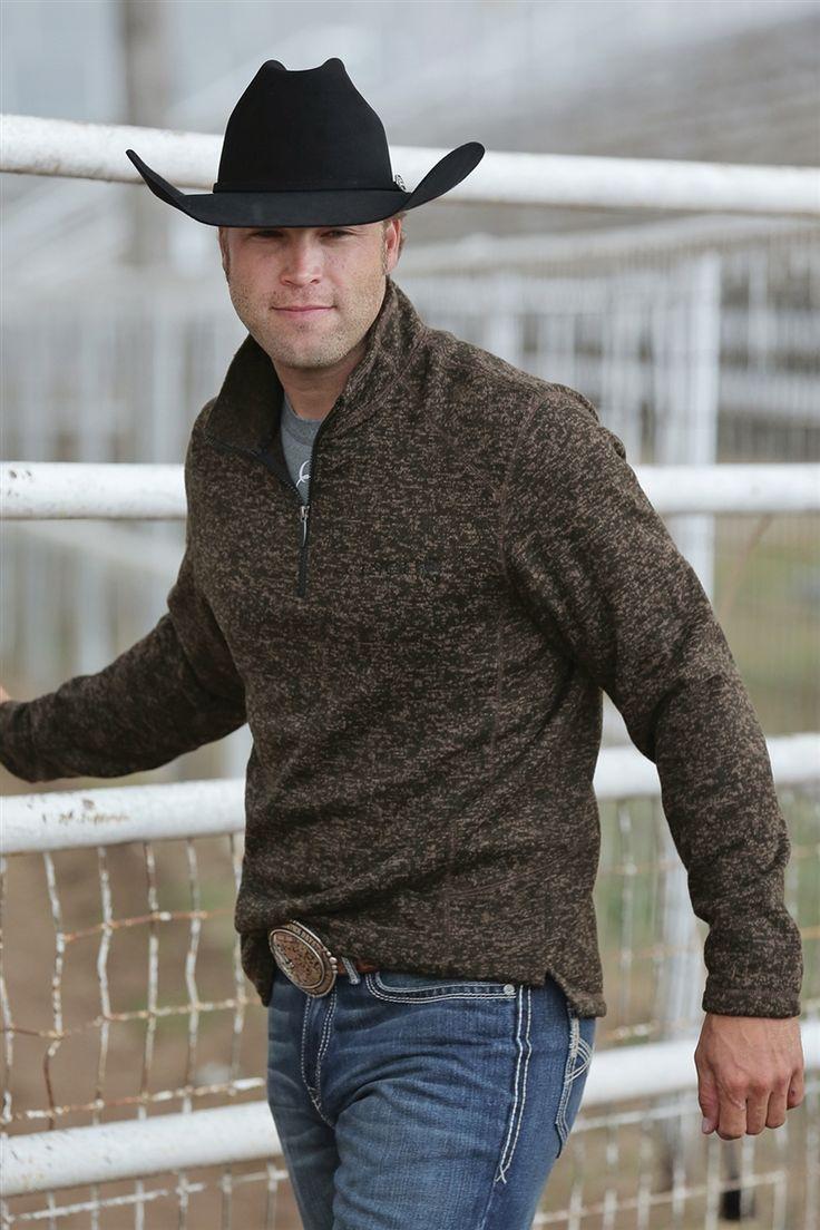 CINCH Western Sweatshirt Mens Pullover Sweater Brown