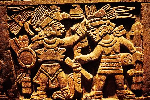 Mexican Aztec Art | Mexican art, Detail of carving, Round stone, Cuauhxicalli, Museo de ...