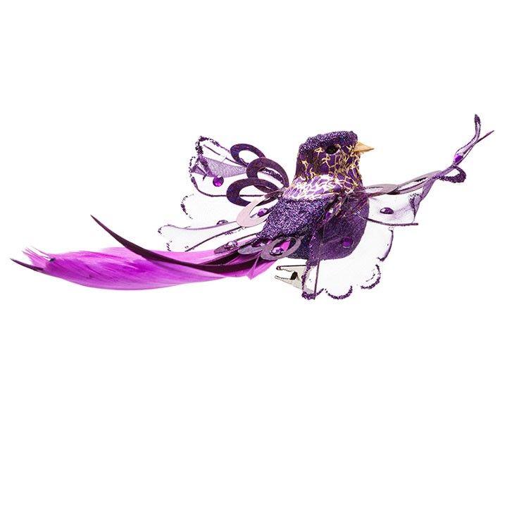 Paarse vogel (2 stuks)