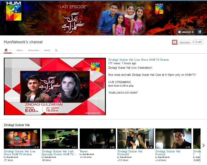 www.youtube.com.humnetwork                       ZINDAGI GULZAR HAI | PAKISTANI DRAMAS | DRAMA PAKISTANI | LIVE SHOW | JAGO PAKISTAN JAGO | YOUTUBE | FAWAD KHAN | SANAM SAEED | ZAROON | KASHAF | Hum TV Dramas | Hum Tv Pakistani Dramas | Hum TV Official | HUM LIVE TV | Hum Dramas Picture and Video Gallery | Hum TV Video Archive | Hum TV Online. For More visit our website www.hum.tv www.facebook.com/zindagigulzarhai:  Website, Website Www Hum Tv