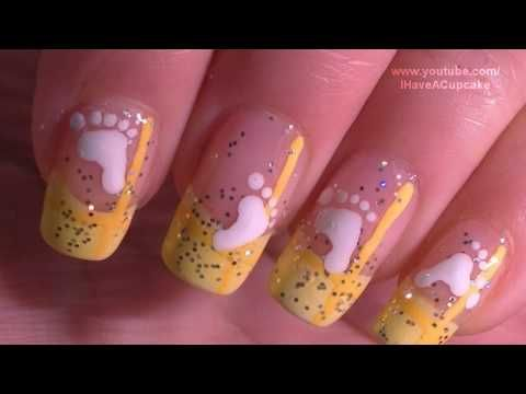 Simple Baby Nail Art Tutorial / Arte para las unas  de bebe