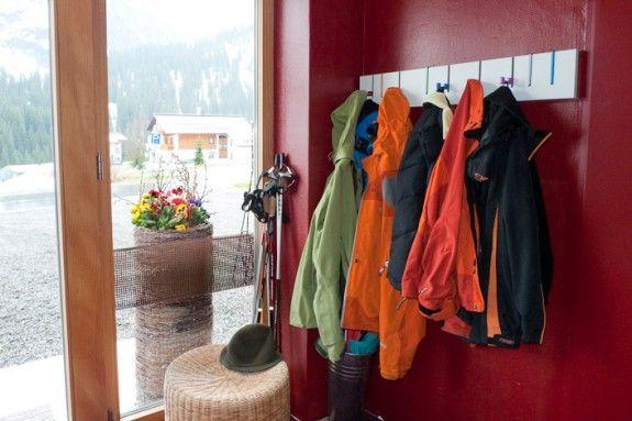 Symbol Coat Rack w/ coats