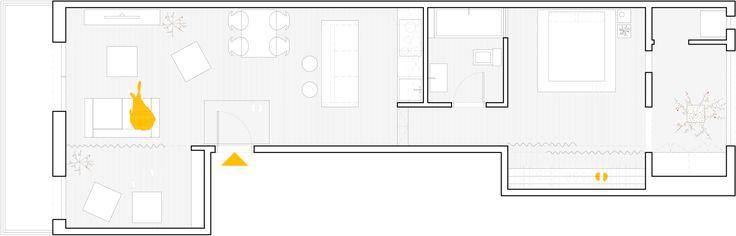 Plano del departamento pequeño