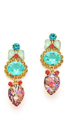 Elizabeth Cole Crystal Drop Earrings | SHOPBOP