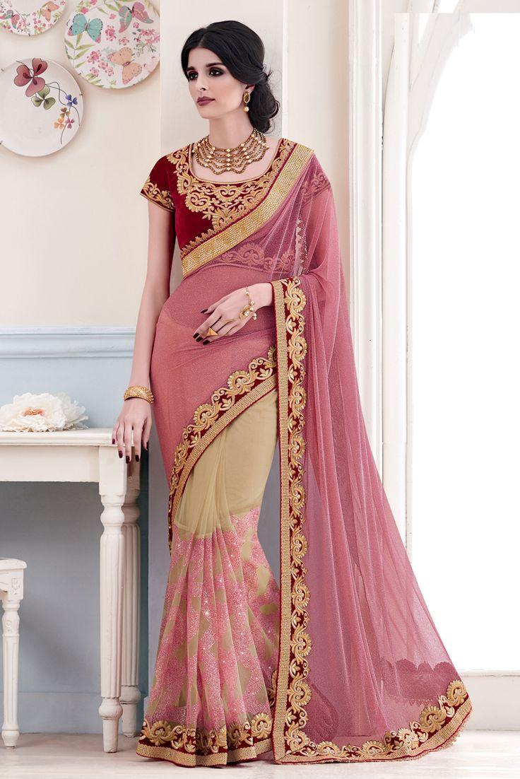 Half & Half Saree by Lushika For purchase enquiries email me at info@lushika.com or whats app me on +91 9913813873. We ship WORLDWIDE SHOP NOW : http://goo.gl/RLYSTV  #freeshipping #india #usa #lushika #halfandhalf #partywear #clothing #womensfashion #onlineshopping #buynow #sareesonlineshopping