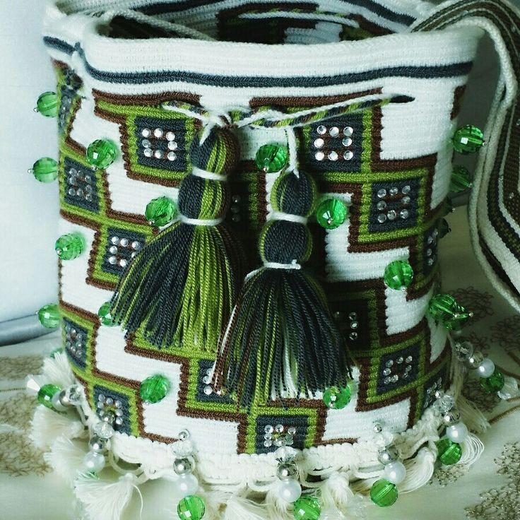 Wayuu Mochila bag Mini Esmeralda