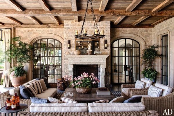 How dreamy is the open-air loggia in Tom and Giselle's newly listed CA chateau? #tombrady #gisellebundchen