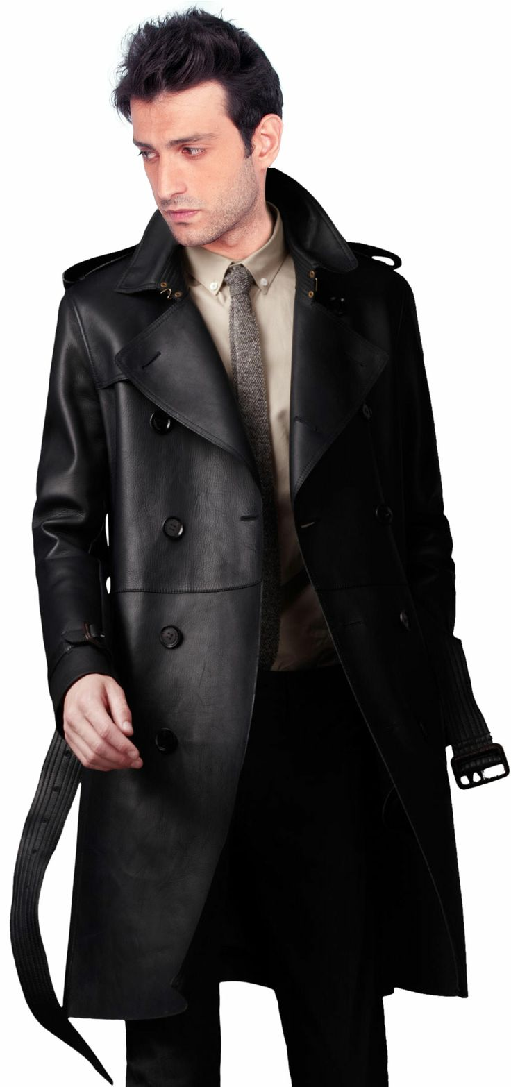 Buy Heritage Soft Lambskin Leather Trench Coat Online