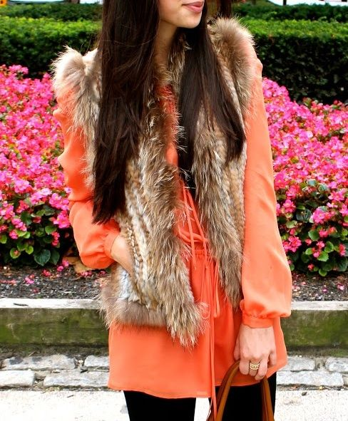 thinking of take the sleeves off my thrift store fur coat... maybe it'd get more mileage as a vest?