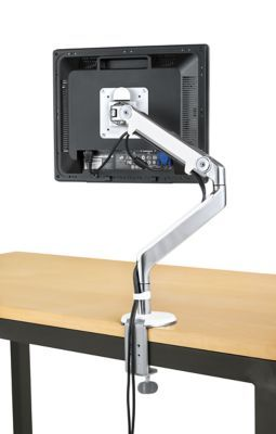 Room & Board | M2® Monitor Arm in Polished Aluminum with White Trim