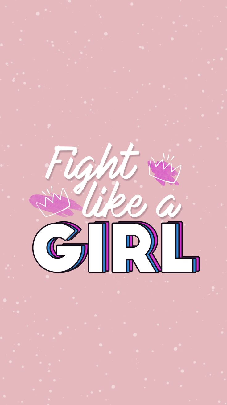 Wallpaper Fight Like a Girl Gocase 736