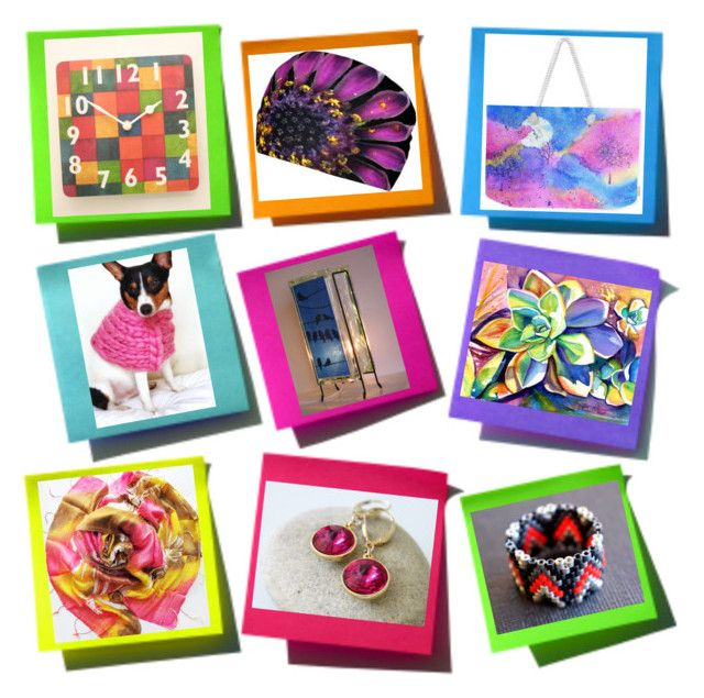 Colorful handmade gifts by glowblocks on Polyvore featuring interior, interiors, interior design, home, home decor and interior decorating