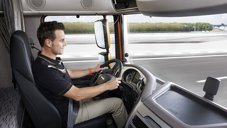 DAF XF Euro 6 Interior with driver
