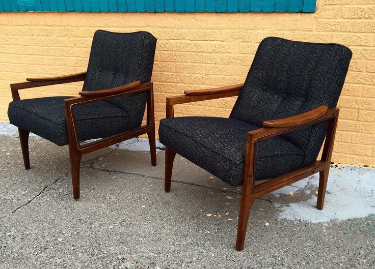 Murphy Miller Lounge Chairs. Reupholstered And Sans Cane Side Panels!  #stpaul #minneapolis