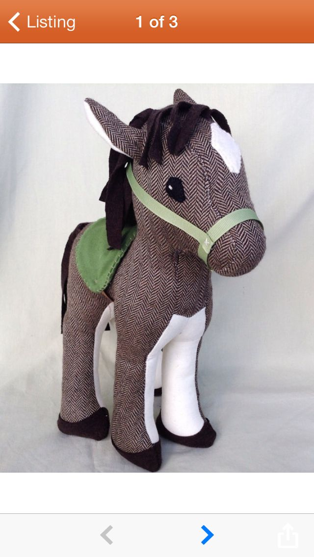 15 best stuffed horse pattern images on pinterest fabric for Horse fabric for kids