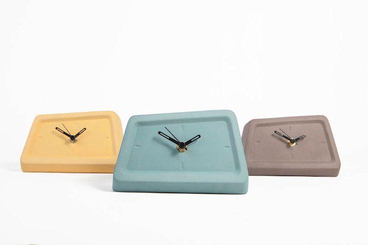 Modern table Clock, ceramic clock, unique clock, desk Clock, modern minimalist, mantel decor, mantel clock, Office Decor, modern ceramics by Yahalomis on Etsy https://www.etsy.com/listing/254363718/modern-table-clock-ceramic-clock-unique