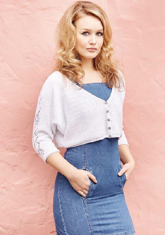 Juliette Cardigan in Rowan Summerlite 4 Ply - Free Pattern