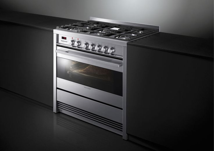 Fisher & Paykel 90cm Pyrolytic Freestanding Dual Fuel Cooker (OR90SDBGFPX1). This 90cm Freestanding Cooker gives you the flexibilty to prepare several courses simultaneously with an extra large oven, that offers Pyrolytic Self Clean function combined with a 5-burner gas cooktop. The unique design and clean lines in black glass and stainless steel complement the style and elegance of any modern kitchen.