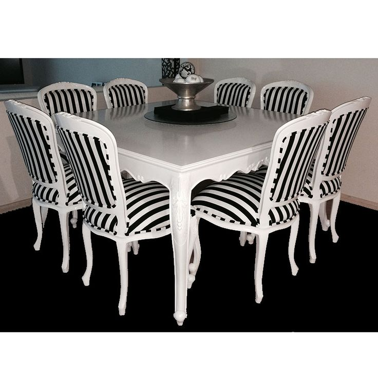 Entertain Your Friends Around This Beautifully Carved French Provincial  Dining Table And Chairs. 10 Superb