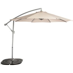 Cream - Overhanging Parasol from Homebase.co.uk  £99.99
