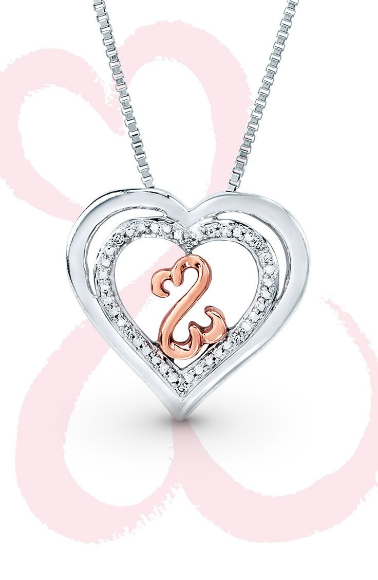 heartbeat ct tw sterling pin my infinity diamonds heart silver kay jewelers necklace