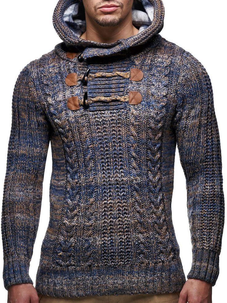 LEIF NELSON - LN6004 Sueter de punto con cuello de bufanda: Amazon.es: Ropa y…