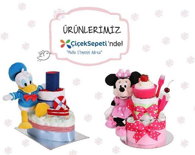 Disney karakterli Baby Muu pastaları Çiçek Sepeti'nde  #bezpasta #çiçeksepeti #babymuu #yeni #yenibebek #doğum #donaldduck #minniemouse #bebek #anne #doğumhediyesi #bebekgeliyor