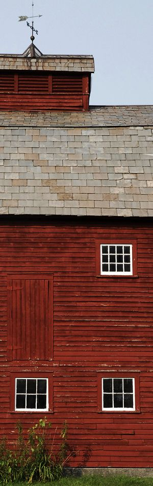 Old red barn in Vermont - USA - ©maison-bois.annuaire-utile.net