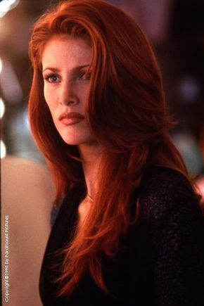 Angie Everhart (born: September 7, 1969, Akron, OH, USA) is an American Hollywood actress and fashion model. She appeared in several Sports Illustrated swimsuit issues in the 1990s and posed nude for Playboy in 2000.She is best known for the movies Last Action Hero (1993), Denial (1998), Trigger Happy (1996) and Gunblast Vodka (2000).
