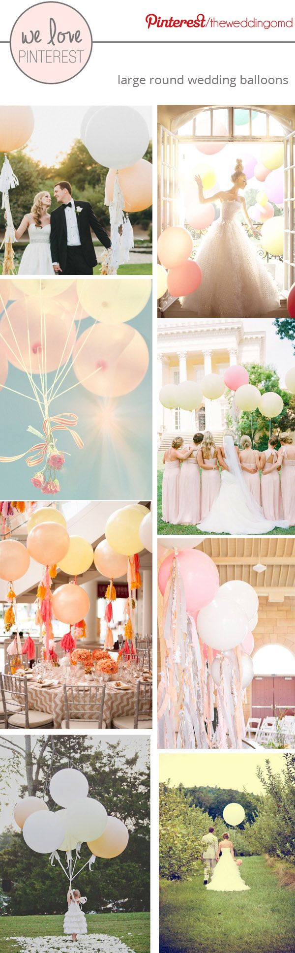 Large Wedding Balloons ~ Effortless Romance #wedding #balloons. Balloons available at http://www.bloomdarling.com/
