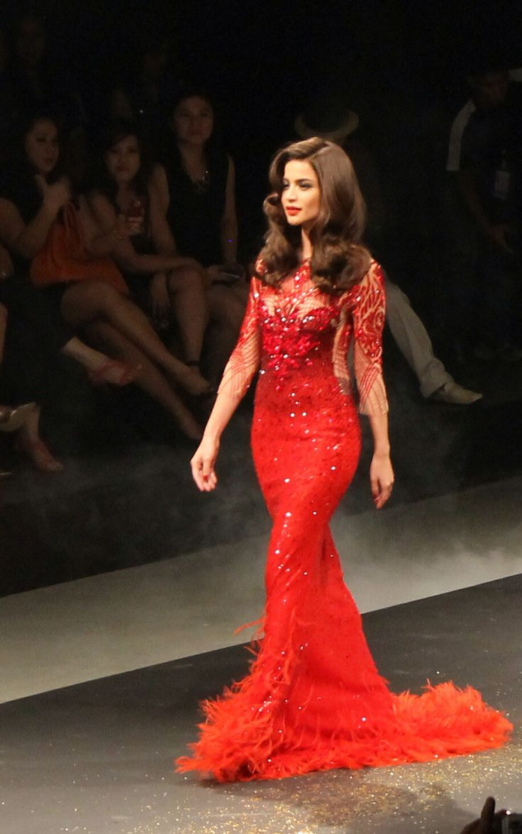 Anne Curtis Smith - wearing Michael Cinco for L'Oreal Paris