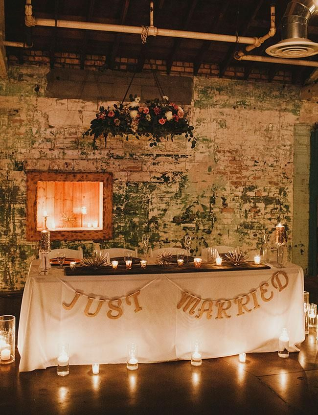 just married garland for wedding reception 242