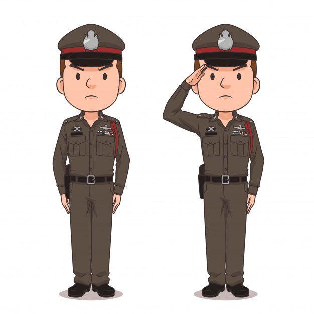Cartoon Character Of Thai Police Cartoon Cartoon Characters Cartoon Man