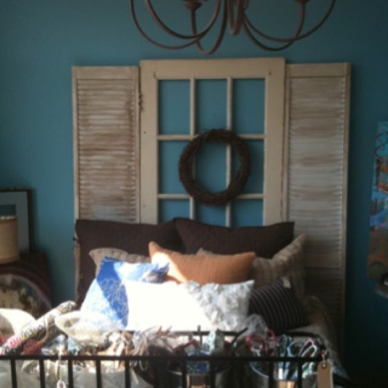 shutter headboards | want this shutter headboard | For the Home