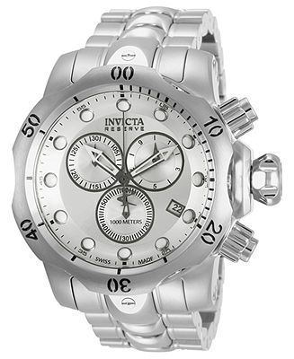 Invicta Watch, Men's Swiss Chronograph Reserve Venom Stainless Steel Bracelet 54mm 5730