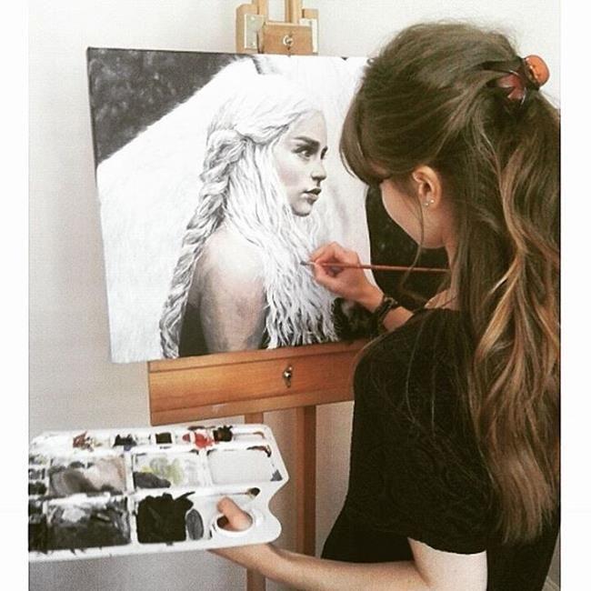 """Babasından Öğrendiği Çizim Teknikleri ile Müthiş Resimler Yapan Genç Sanatçı: """"Helen Rose"""" Sanatlı Bi Blog 4"""