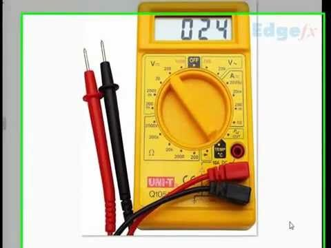 How To Use A Multimeter For Beginners Part 1 Voltage