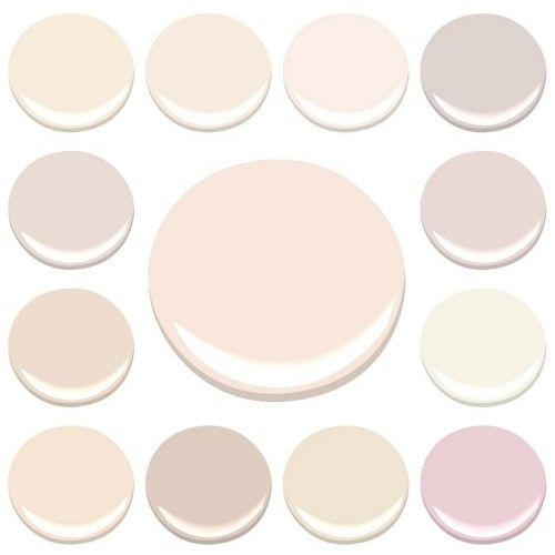 MY FAVORITE INTERIOR PINKS…ALL BENJAMIN MOORE -CLOCKWISE FROM TOP LEFT – AMBROSIA, BLANCHED CORAL, FROSTED PETAL, ORGANDY, PAISLEY PINK, PINK DAMASK, PINK INNOCENCE, PRISTINE, SOUTHERN COMFORTSHEER PINK, TISSUE PINK, AND WILD ASTER ………CENTER – PINK CLOUD
