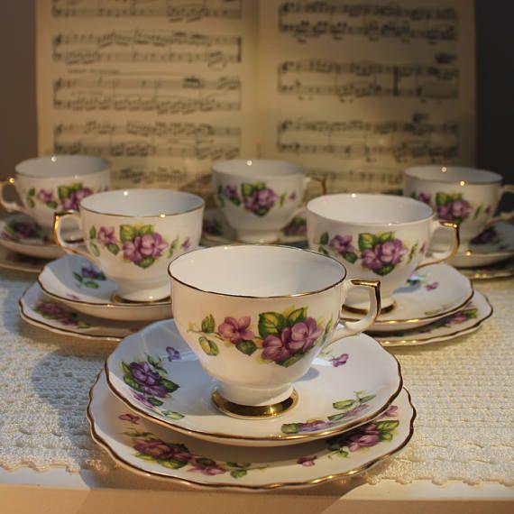 Vintage Crown Regent bone china Tea cup saucer and cake plate