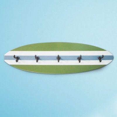 Kid's Beach Bathroom Print Set and Surfboard Towel Rack- Project Cottage