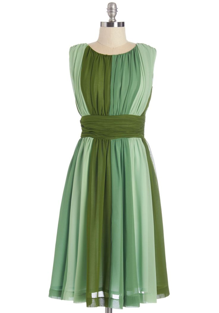Evolution of Elegance Dress in Green, #ModCloth $124.99
